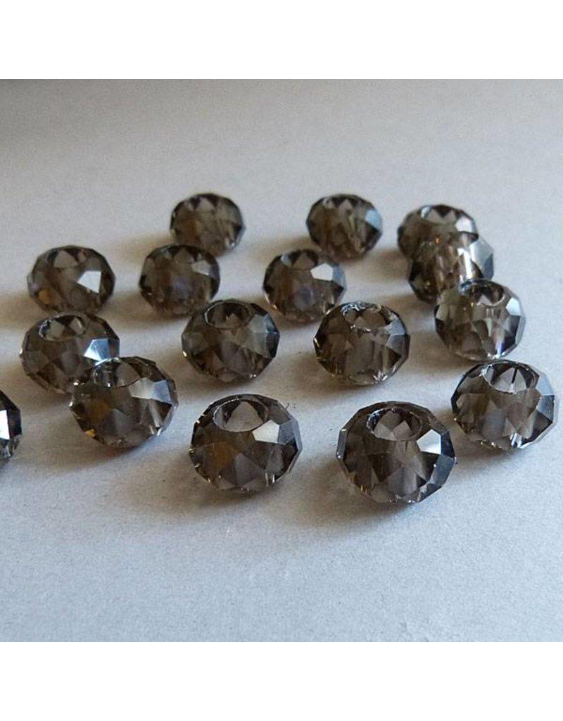 Glas Perle - braun 14 mm