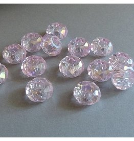 Glas Perle - rosa 14 mm