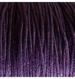 Baumwollband - 1 mm gewachst lila