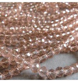 Glasschliff Perle - 6 mm zart lachs