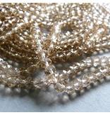Glasschliff Perle - 6 mm sand