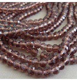 Glasschliff Perle - 6 mm zart flieder