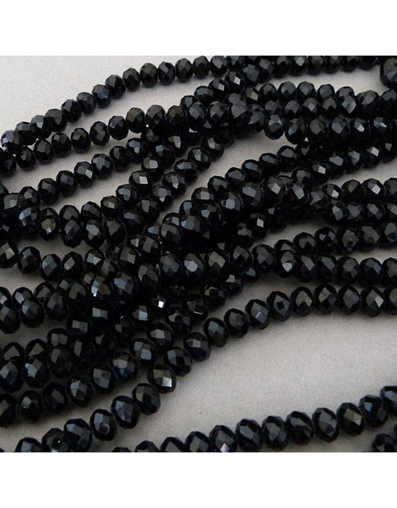 Glasschliff Perle - 6 mm schwarz