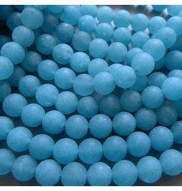 Blau Quarz Perle 8 mm - matt
