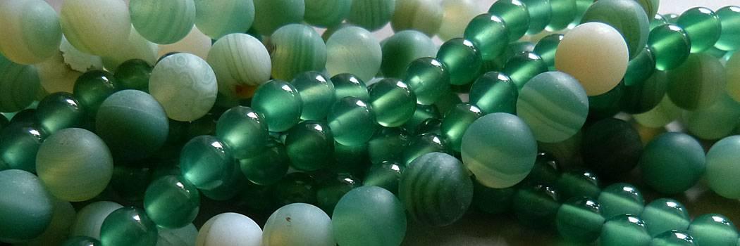 Grüne Achat Perlen