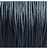 Baumwollband - 1 mm gewachst grau