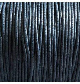 1 Meter Baumwollband - 1 mm grau