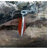 Campur GmbH 1 Paar Silber Hänger mit Karneol Perle