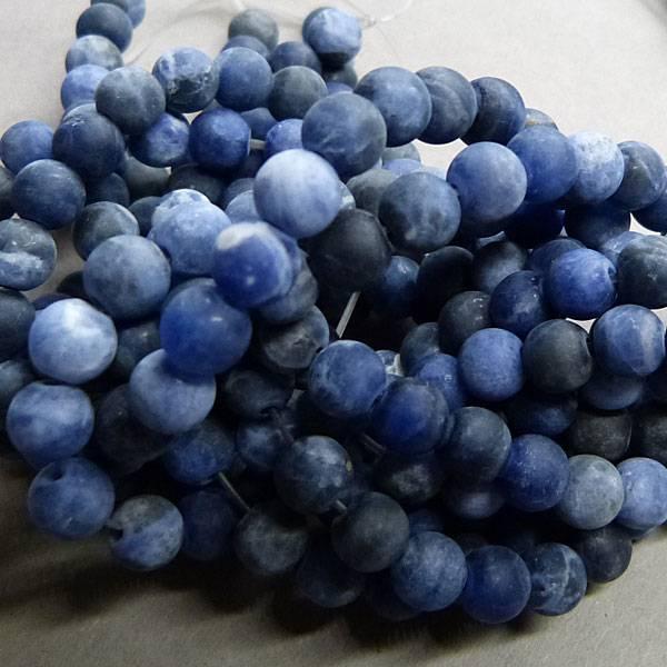 Sodalith Perle 8 mm - matt