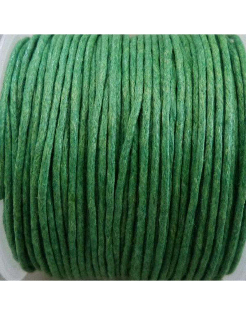 25 Meter Baumwollband - 1 mm grün