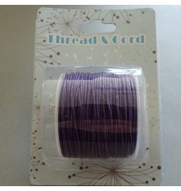 25 Meter Baumwollband - 1 mm lila