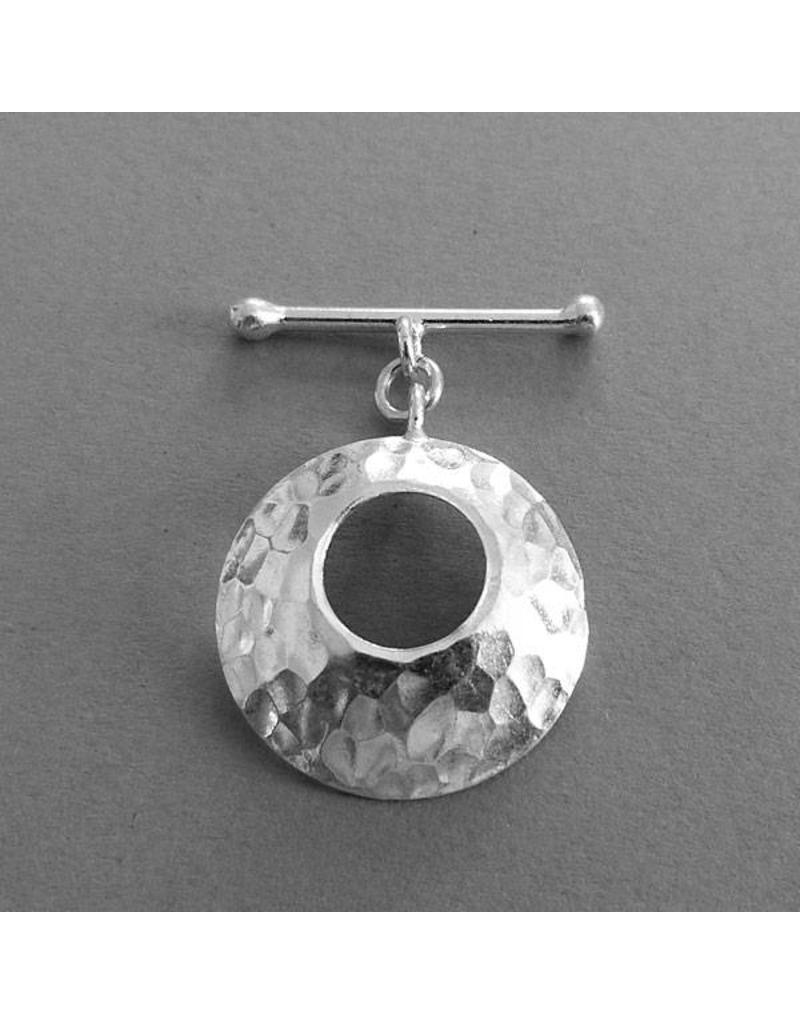 Knebel Verschluss Silber gehämmert