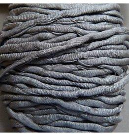 Habotai Seidenbänder Seidenband grau - 3 mm