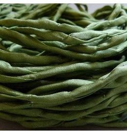 Habotai Seidenbänder Seidenband olive - 3 mm