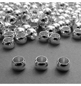 Kaschier Perle versilbert 6 mm