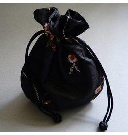 Schmuck Beutel schwarz 14 cm