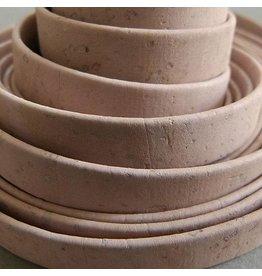 Korkband rosa, flach - 10 mm