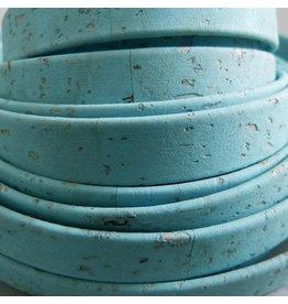 Korkband türkis, flach - 10 mm