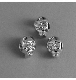 Metall Perle versilbert - 13 mm
