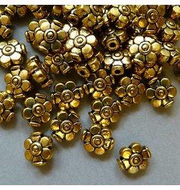 Metall Blumen Perle - 9 mm
