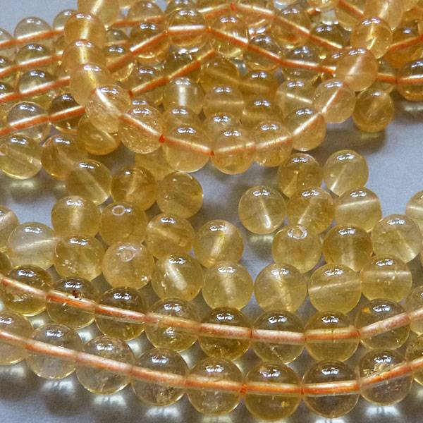 Citrin Perle gelb 10 mm