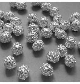 Perle versilbert - 10 mm