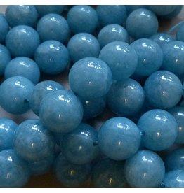 Blau Quarz Perle 12 mm