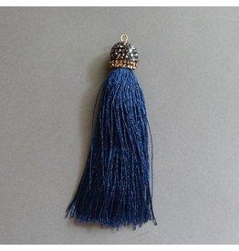Quaste - marine blau
