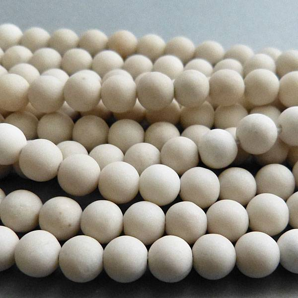 Jaspis Perle kalk weiß 12 mm