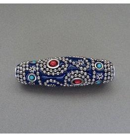 Kashmiri Perle 60 mm - blau