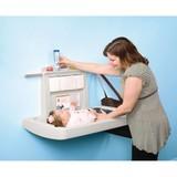 Rubbermaid Baby verkleedtafel beige opklapbaar horizontaal model
