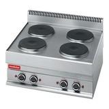 Modular kookplaat 4 plaats 400V 9,6Kw platen Ø22cm