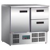 Polar koelwerkbank 1 deur 2 laden 900x700x850(h)mm 240Liter  2/8ºC
