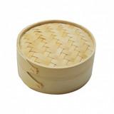 Sushi steamer bamboo natural Ø15x8cm m/deksel p/stuk