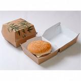 "GP Hamburgerbox jumbo  ""Feel Green"" karton bruin 14x14x8cm pak à 50"
