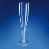 GP Champagneflute disposable 125ml helder Ø4,9cm 20(h)cm pak à 10