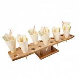 GP standaard voor 20 cones 57,5x12x10,5cm LxBxH natural bamboo
