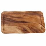 Acacia rechthoekige  plank met sapgeul 35x20x2cm