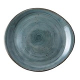 Continental Rustic blauw pebble bord plat Ø20cm doos à 6