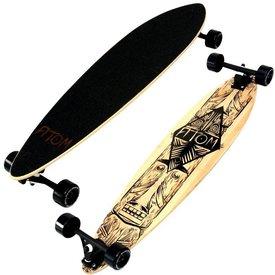 "Atom 39"" Bamboo PinTail Longboard Tiki"