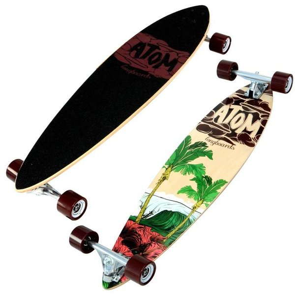 "Atom 34"" Pintail longboard Surf"