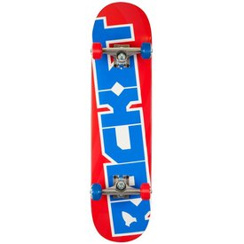 Rocket Skateboard Pro Logo - Red/Blue