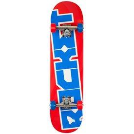 Rocket Skateboard Pro Logo - Red/Blue