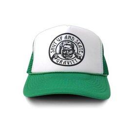 """Gravity Trucker Cap """"Shut Up"""" - Green"""