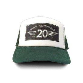 """Gravity Trucker Cap """"20 Years"""" - Green"""