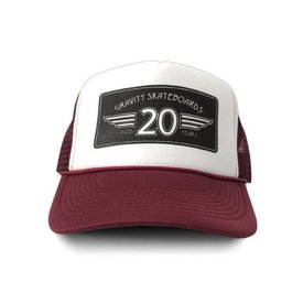 """Gravity Trucker Cap """"20 Years"""" - Maroon"""