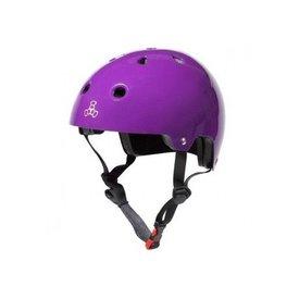 Triple 8 Brainsaver dual - EPS - helm Pruple Gloss