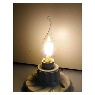 LED kaarslamp klassiek 2W warmwit E14