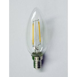 Kaarslamp LED (filament) warmwit 2 watt