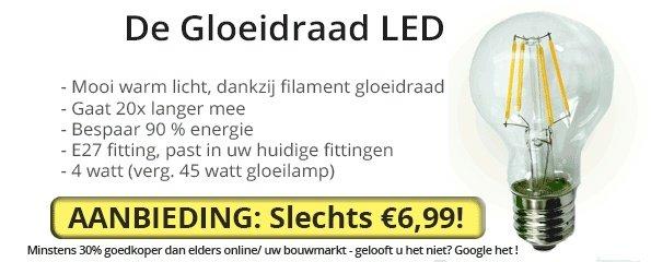 Gloeidraad LED aanbieding